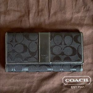 Black Coach signature wallet